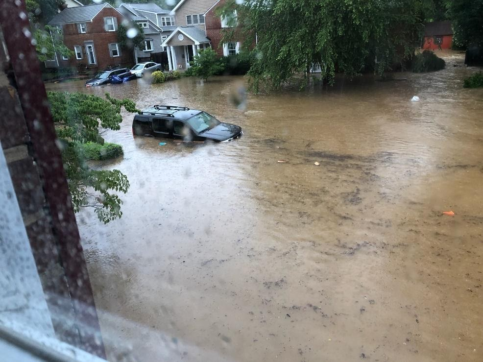 Flash Flooding in Arlington County, Virginia